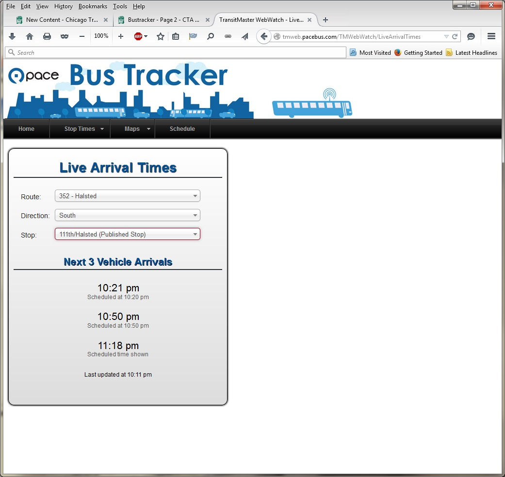 Bustracker - Page 3 - CTA Bus - Chicago Transit Forum