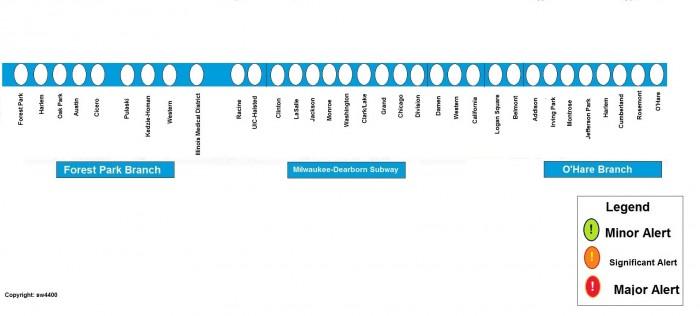Cta Blue Line Map Rail Service Alerts Discussion Thread   Page 2   CTA Rail  Cta Blue Line Map