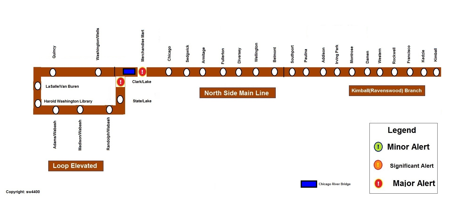 CTA Rail Service Alerts Page CTA Rail Chicago Transit Forum - Chicago brown line map