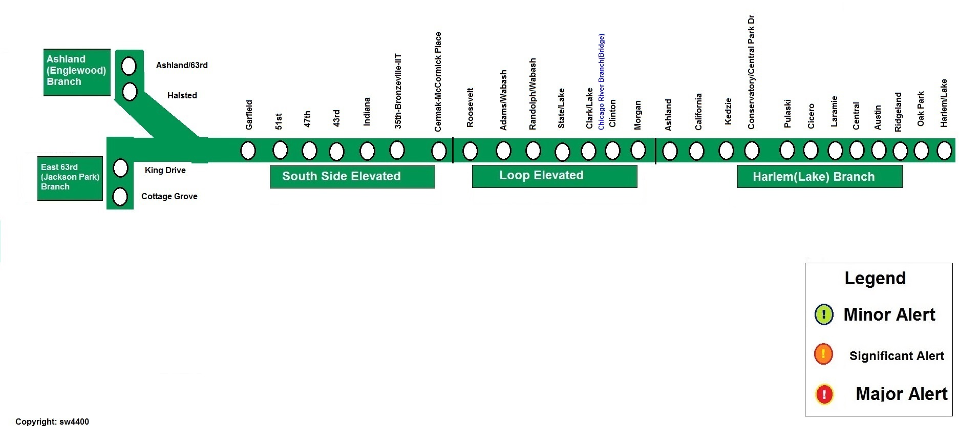 cta loop map with 2302 Rail Service Alerts on Chicago Map Pdf moreover Uptown additionally Then And Now A Brief History Of The Chicago L further Chicago Top Tourist Attractions Map as well 2302 Rail Service Alerts.