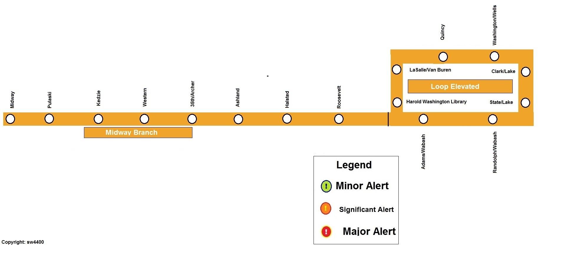 cta map orange line choice image