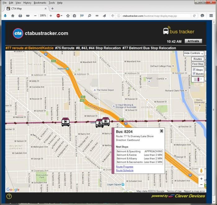Bus Route Tracker - Page 2 - CTA Bus - Chicago Transit Forum