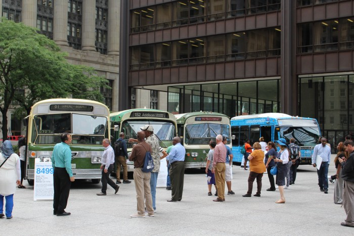 CTA Historical Fleet Daley Plaza.JPG